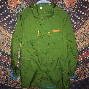 ZARA: Green Anorak Windbreaker/Jacket